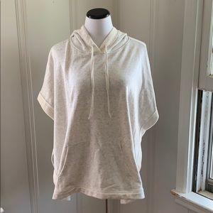 NWOT LOFT Short Sleeve Lounge Poncho Gray M/L